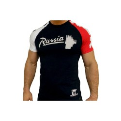 Klokov Team Winner Russia Barbell Tri-Color T-Shirt